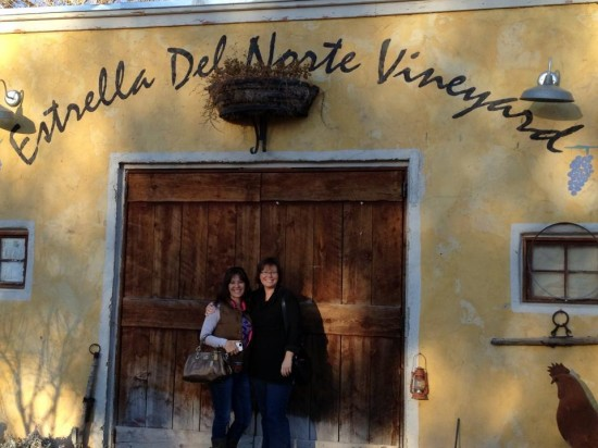 Jen and Valynne, Visiting Estrella Del Norte (December 2012)