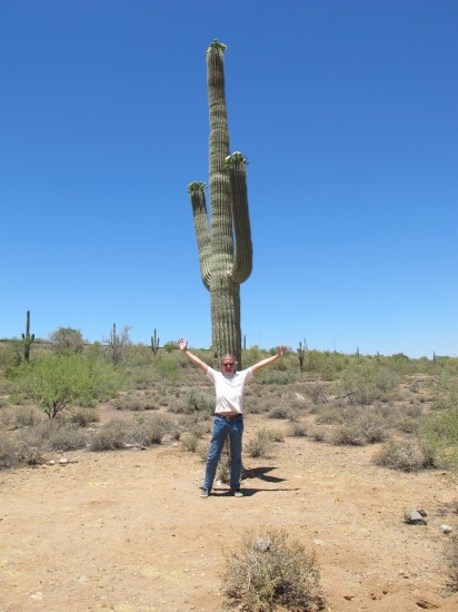 Paul and an Arizona Saguaro on a 2010 Road Trip