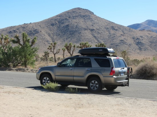 Our trusty 4Runner at Joshua Tree National Park