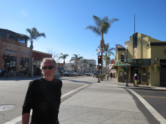 Sharing my old stomping grounds (Main Street, Ventura) with Paul