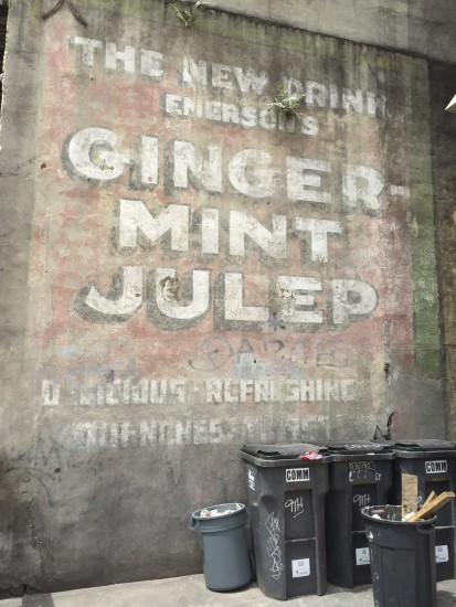 Old Ginger Mint Tulep Mural in the French Quarter