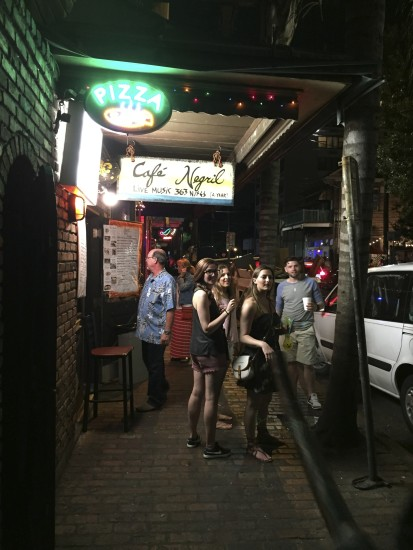 Outside Cafe Negril on Frenchmen Street